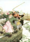 TAURUS-KUNSTKARTEN Frauen auf der Hafenmauer - Inge Löök Postkarte