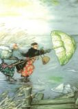 TAURUS-KUNSTKARTEN Frauen beim Schlittschuh laufen - Inge Löök Postkarte