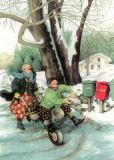 TAURUS-KUNSTKARTEN Frauen und Briefkästen - Inge Löök Postkarte