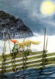 TAURUS-KUNSTKARTEN Zwerg mit Wolf - Inge Löök Postkarte