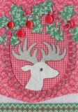 ROGER LA BORDE Patchwork Stags Glitzer Postkarte
