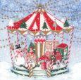 GOLLONG Weihnachtliches Karussell - Kerstin Heß Postkarte