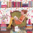GOLLONG Lesende Frau - Cartita Design Postkarte