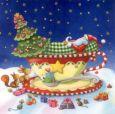 GOLLONG Nikolaus schläft in Tasse - Nina Chen Postkarte