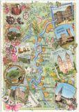 TAUSENDSCHÖN Gruss von der Saar Postkarte