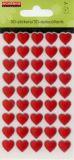 ECETERA Rote Herzen Stonez 3D Sticker