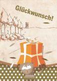 VENCEREMOS Glückwunsch Eulen / aufruhr:4250 Postkarte