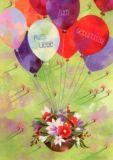 GRÄTZ Luftballons mit Blumenkorb - Aurélie Blanz Postkarte