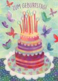 GRÄTZ Zum Geburtstag / Torte - Aurélie Blanz Postkarte