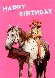 MT Happy Birthday / Pippi + Kleiner Onkel - Pippi Langstrumpf Postkarte