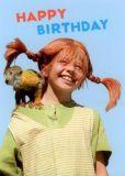 MT Happy Birthday / Pippi + Herr Nilsson - Pippi Langstrumpf Postkarte