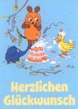 MT Herzlichen Glückwunsch / Tortenschlacht - Sendung mit der Maus Postkarte