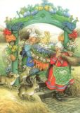 TAURUS-KUNSTKARTEN Osterdekoration - Inge Löök Postkarte