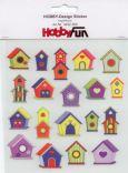 HobbyFun Vogelhäuser Hobby-Design Sticker