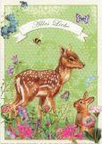 TAUSENDSCHÖN Alles Liebe / Reh + Hase Postkarte
