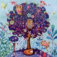 GOLLONG Baum mit Eulen - Mila Marquis Postkarte