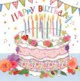 GOLLONG Happy Birthday / Torte - Carola Pabst Postkarte