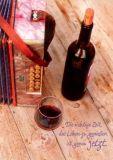 GWBI Leben genießen / Rotwein - Lebenskunst Postkarte