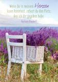 GWBI Platz in meinem Herzen / weißer Stuhl - Lebenskunst Postkarte
