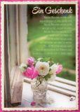 GWBI Ein Geschenk / Blumenvase - CardArt Postkarte