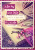 GWBI Roman deines Lebens / Buch + Schlüssel - CardArt Postkarte