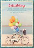 GWBI Geburtstage / Fahrrad mit Ballons - CardArt Postkarte